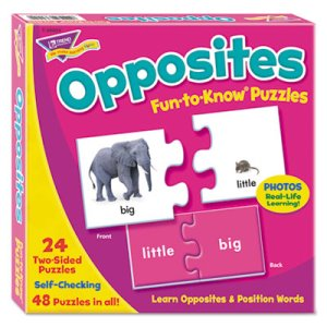 Trend Fun to Know Puzzles, Opposites, Ages 3 and Up, Each (TEPT36004)