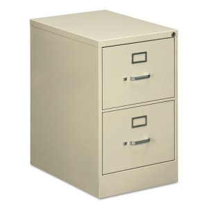Oif Two-Drawer Economy Vertical File, Legal, 18 1/4w x 26 1/2d x 29h, Putty (ALEVF1929PY)