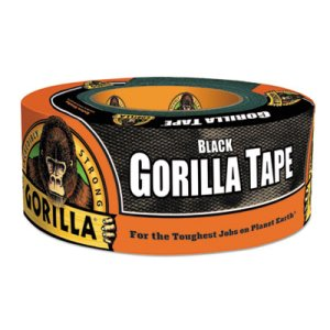 "Gorilla Tape, All-Weather Duct Tape, 1.88"" x 12 yds, 3"" Core, Black (GOR60122)"