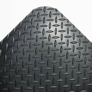"Crown Industrial Anti-Fatigue Vinyl Mat, 36""x144"", Black (CWNCD0312DB)"