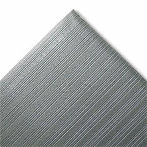 "Crown Ribbed Anti-Fatigue Vinyl Mat, 27""x36"", Gray (CWNFJS736GY)"