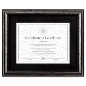 Dax Document Frame, Desk/Wall, Wood, 11 x 14, Antique Charcoal Brushed Finish (DAXN15790ST)