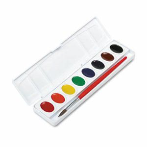 Prang Professional Watercolors, 8 Assorted Colors/Set, Oval Pans (DIX00800)