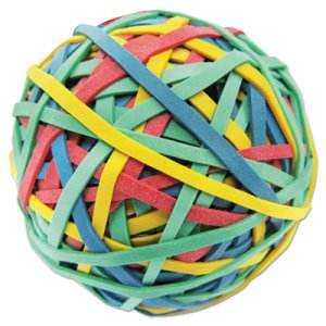"Universal Rubber Band Ball, 3"" Size, 2 3/4"" Length, 260 Bands (UNV00460)"