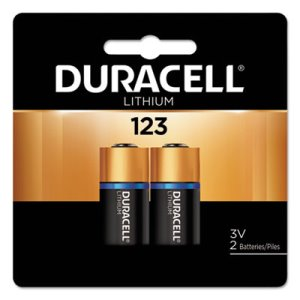 Duracell Ultra High-Power Lithium Battery, 123, 3V, 2/Pack (DURDL123AB2BPK)