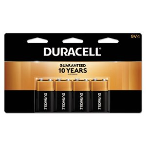 Duracell Batteries - 9 Volt 4 Batteries per Pack (DRC MN16RT4Z)