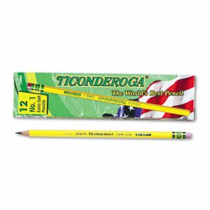 Ticonderoga Woodcase Pencil, B #1, Yellow Barrel, Dozen (DIX13881)