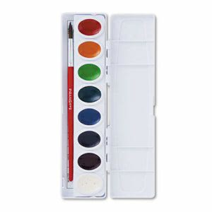 Prang Professional Watercolors,16 Assorted Colors (DIX16000)