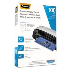 Fellowes Laminating Pouches, Hot Pouch, 9 x 11.5, 3 mil, 100 pack (FEL5743301)