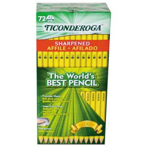 Ticonderoga Pre-Sharpened Pencil, HB #2, Yellow, 72/Pack (DIX13972)