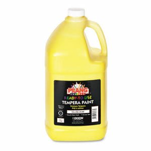 Prang Ready-to-Use Tempera Paint, Yellow, 1 Gallon Bottle (DIX22803)