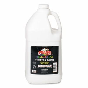 Prang Ready-to-Use Tempera Paint, Matte Finish, White, 1 Gal (DIX22809)