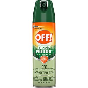 OFF! Deep Woods Dry Insect Repellent Spray, 12 Cans (SJN616304)