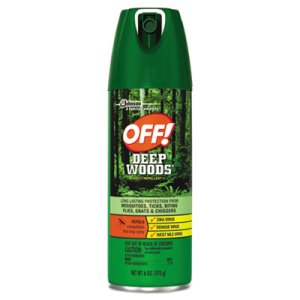 OFF! Deep Woods Insect Repellent Spray, 12 Aerosol Cans (SJN629350)