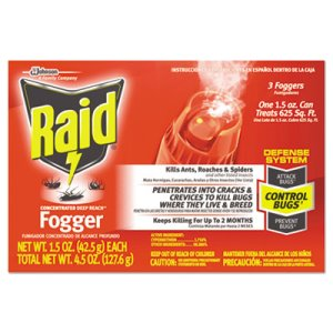 Raid Concentrated Deep Reach Insecticide  Fogger, 36 Foggers (SJN643406)