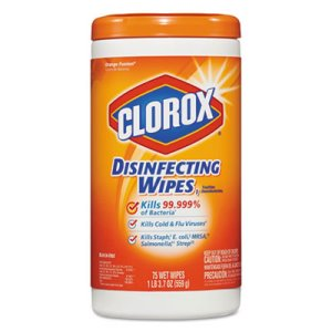Clorox Disinfecting Wipes, Orange, 6 Canisters (CLO 01686)
