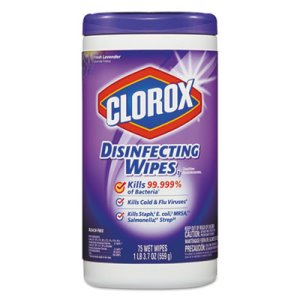 Clorox Disinfectant Wipes, Fresh Lavender, 6 Canisters (CLO 01761)
