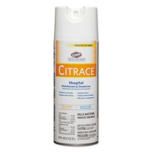 Clorox Citrace Hospital Disinfectant & Deodorizer, 12 Aerosol Cans (CLO49100)