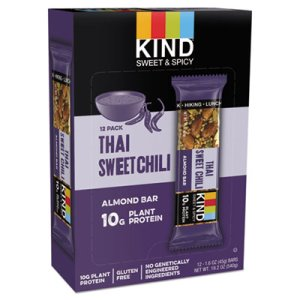 Kind STRONG & KIND Bars, Thai Sweet Chili Almond, 1.6 oz Bar, 12/Box (KND18509)