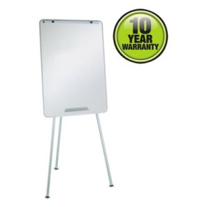 Quartet Oval Office Dry Erase Easel, Melamine, 29 x 40, Gray, Framed (QRT70EG)