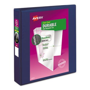 "Avery Durable Vinyl Slant D Ring View 1 1/2"" Binder, 11 x 8-1/2, Blue (AVE17024)"