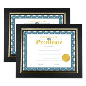 Universal Leatherette Document Frame, Certificate/Document, 2 Frames(UNV76838)