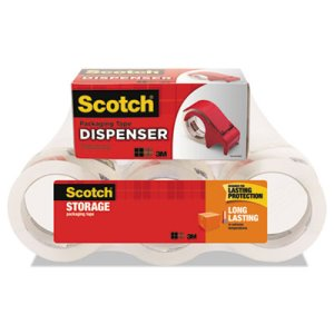 "Scotch Moving & Storage Tape, 1.88"" x 54.6 yards, Clear, 6 Rolls (MMM36506DP3)"