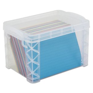 Advantus Stacker Storage Boxes, Hold 500 4 x 6 Cards, Plastic, Clear (AVT40305)