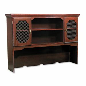 Dmi Governors Series Hutch For Kneespace Credenza, 60w x 13d x 46h, Mahogany (DMI735047)