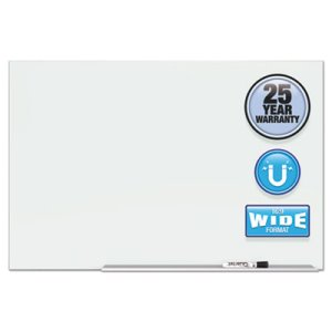 "Quartet Element Magnetic Glass Dry-Erase Boards 50""x 28"", Alum Frame (QRTG5028E)"