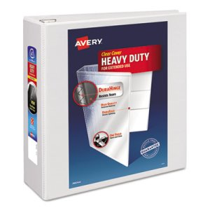 "Avery Nonstick EZD Reference View Binder, 4"" Capacity, White (AVE79104)"