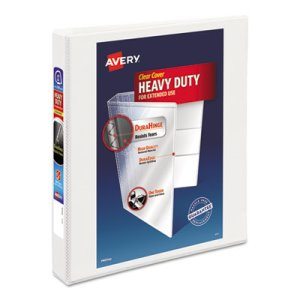 "Avery Nonstick Heavy-Duty Reference View Binder, 1"" Capacity, White (AVE79199)"