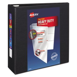 "Avery Nonstick Heavy-Duty EZD Reference View Binder, 4"" Capacity, Blk (AVE79604)"