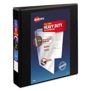 "Avery 1 1/2"" Heavy-Duty EZD Reference View Binder, Black (AVE79695)"