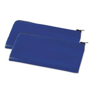 Universal Zippered Wallets/Cases, 11 x 6, Blue, 2 per pack (UNV69020)