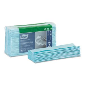 Tork Low-Lint Cleaning Cloth, Top-Pak, Turquoise, 500 Cloths (TRK192479)