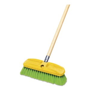 Rubbermaid 9B72 Nylon Wash Brush, Nylon Fill, Green (RCP 9B72 GRE)
