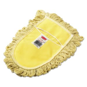 Rubbermaid U120 Trapper Wedge Cotton Dust Mop Head, Yellow, Looped-End (RCPU120)