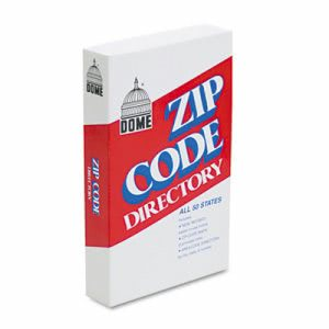 Dome Zip Code Directory, Paperback Book, 750 Pages, 1 Each (DOM5100)