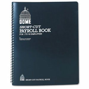 Dome Payroll Record, Single Entry System, Blue Vinyl Cover (DOM650)