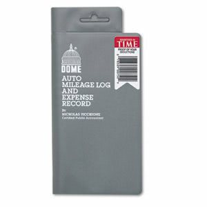 Dome Auto Mileage Log Expense Record, 3-1/2 x 6-1/2, 140 Page Book (DOM750)