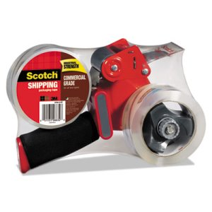 Scotch Packaging Tape Dispenser with 2 Tape Rolls, 54.6 Yards (MMM37502ST)