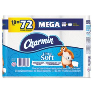 Charmin Ultra Soft Bathroom Tissue, 2-Ply, 284 Sheets, 18 Rolls (PGC99862)