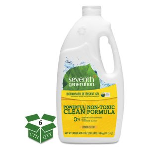 Seventh Generation Automatic Dishwasher Gel, Lemon Scent, 6 Bottles (SEV22171CT)