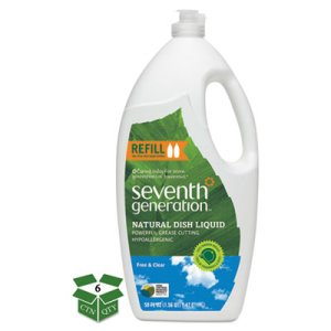 Seventh Generation Natural Dishwashing Liquid, Free & Clear, Jumbo 50 oz Bottle, 6/Carton (SEV44719)