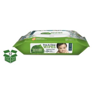 Seventh Generation Free & Clear Baby Wipes, 12 Packs (SEV34208CT)