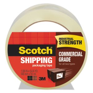 "Scotch 3750 Commercial Grade Packaging Tape, 1.88"" x 54.6yds, 3"" Core (MMM3750)"
