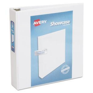 "Avery Showcase Reference View Binder, 2"" Capacity, White (AVE19701)"