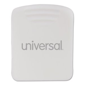 Universal Fabric Panel Wall Clips, 25-Sheet Capacity, White, 20/Pack (UNV21271)