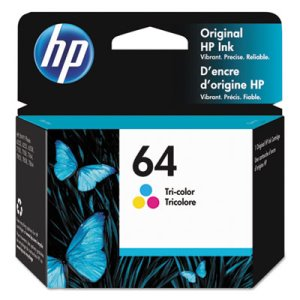 HP 64 (N9J89AN) High Yield Tri-Color Original Ink, 165 Page-Yield (HEWN9J89AN)
